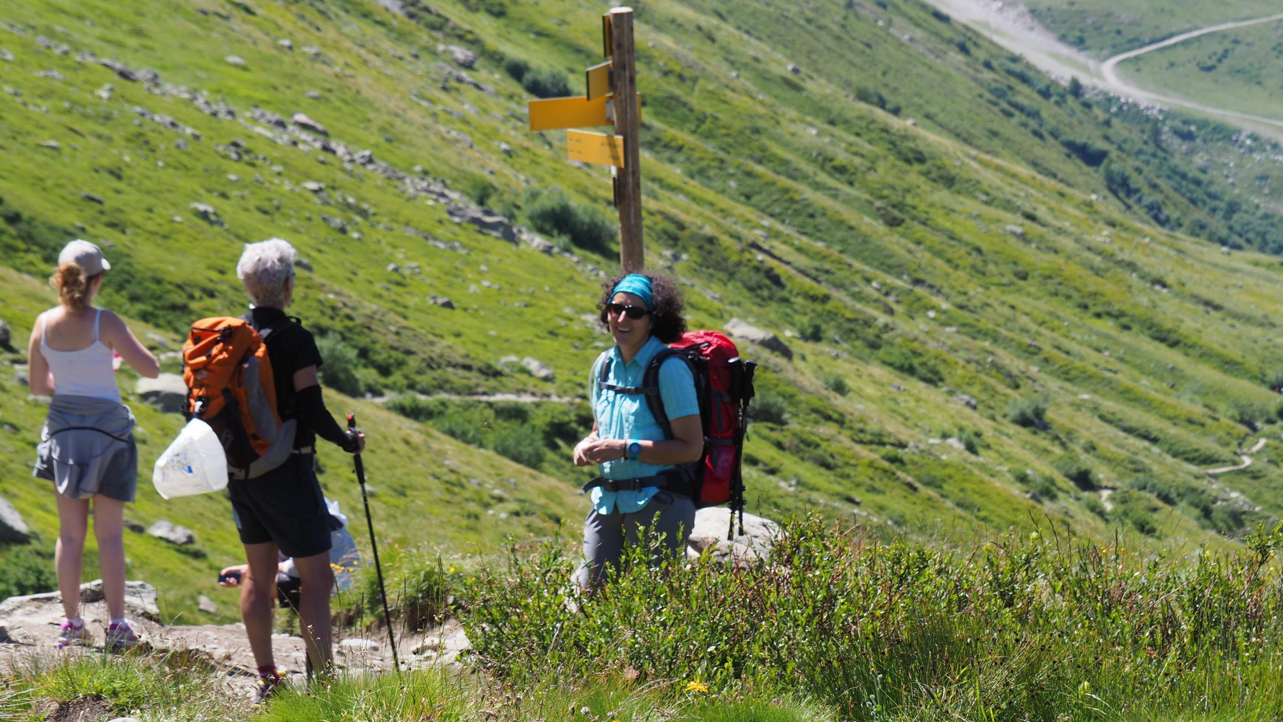 Pendant une randonnée en Haute Savoie